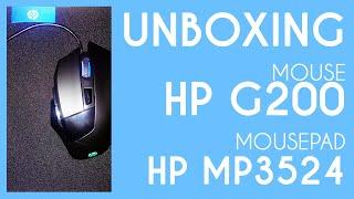Unboxing Mouse Gaming HP G200 Dan Mousepad HP MP5324