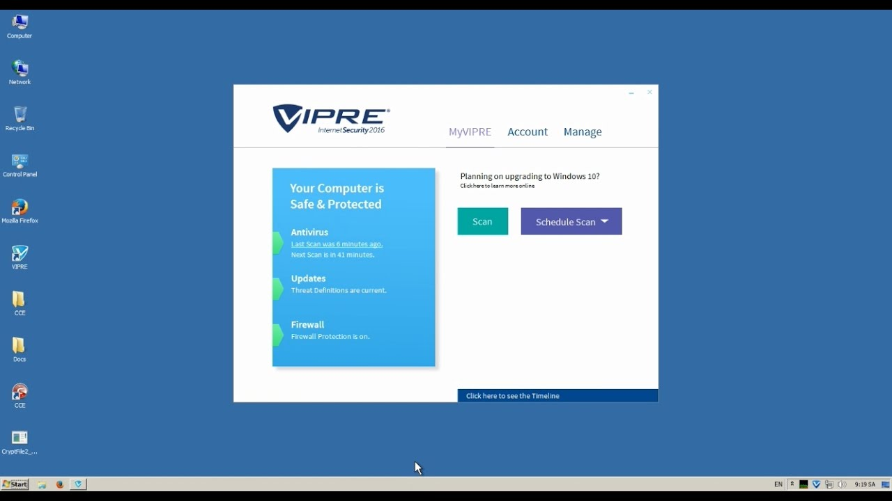 FAILED] ThreatTrack Vipre Internet Security 2016 vs CryptFile2 ...