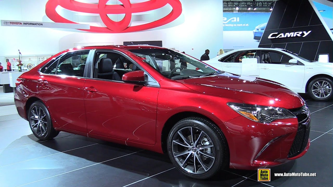 toyota camry 2015 exterior. 2015 toyota camry xse exterior and interior walkaround detroit auto show youtube 7
