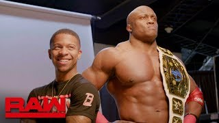 Bobby Lashley poses with his new Intercontinental Championship: Raw Exclusive, Jan. 14, 2019