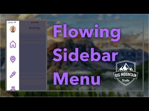 Animating A Sidebar Menu (iOS, Xcode 8, Swift 3) (Side Menu/Slide Out Menu)