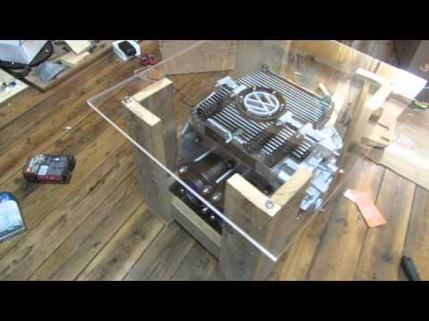 VW Beetle engine man cave coffee table