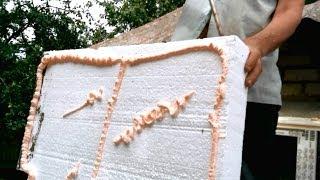 Нанесение клей-пены Penosil на пенопласт. Крепление к стене.(Утепляем дом 100мм. пенопластом с фактической плотностью 10-12кг/м2. Крепим пенополистирол к стене с помощью..., 2014-06-18T14:08:42.000Z)
