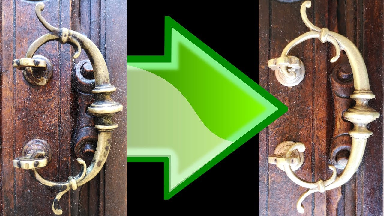 Comment Nettoyer Du Vieux Cuivre how to clean a dirty brass handle for almost zero euro