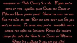 The Court Of Miracles - The Hunchback Of Notre Dame Lyrics HD