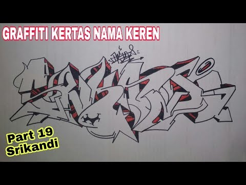 Graffiti Kertas Nama 19 Request Srikandi Youtube