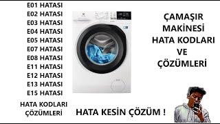 çamaşır makinesi arıza kodları ve çözümleri - (nasıl yapılır)