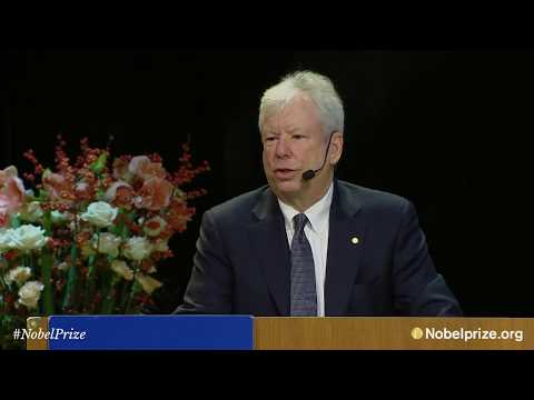 Nobel Lecture: Richard Thaler, The Sveriges Riksbank Prize in Economic Sciences
