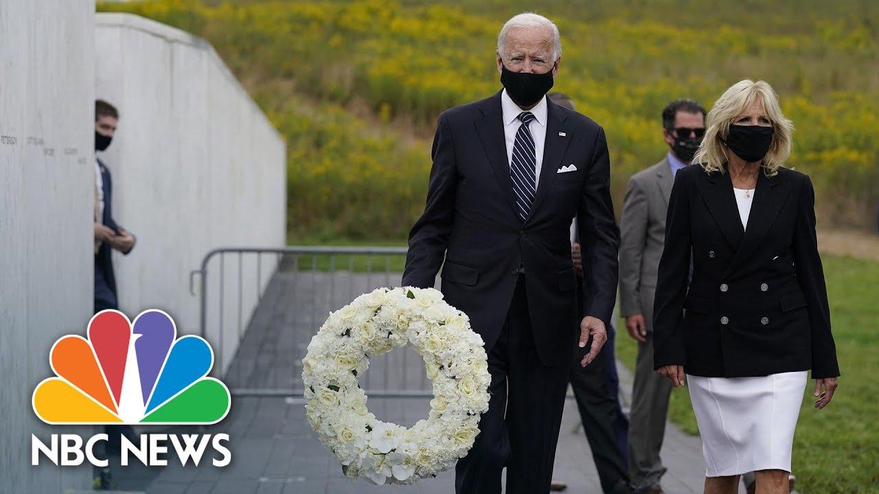 9/11 memorial news  live: Biden lays wreath at United 93 crash site ...