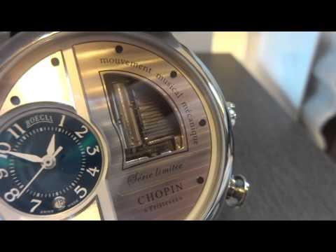 Reuge Boegli musical wristwatch, Chopin Tristesse