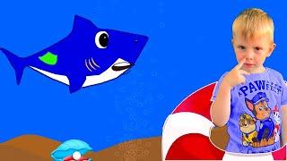 BABY SHARK на русском - АКУЛЕНОК малыш  - развивающая детская песня мультик про животных
