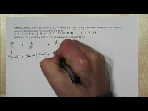 Lottery Probability Sampling Without Replacement Combinations
