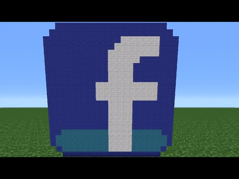 Minecraft Tutorial: How To Make The Facebook Logo