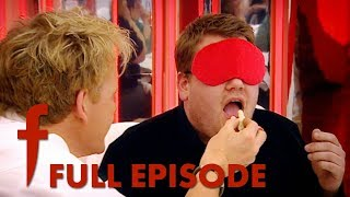 Gordon Ramsay Feeds A Young James Corden Chicken Feet & Duck Tongues | The F Word