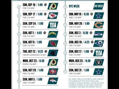 2017 Eagles schedule prediction