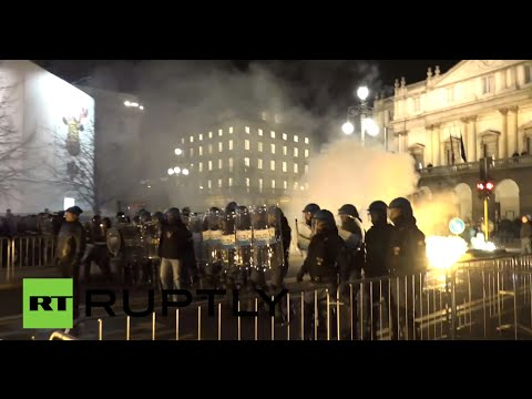 Flares & Firecrackers: Violent clashes in Milan as La Scala opera season begins