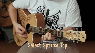 Henna Oasis Select Spruce Acoustic-Electric Guitar