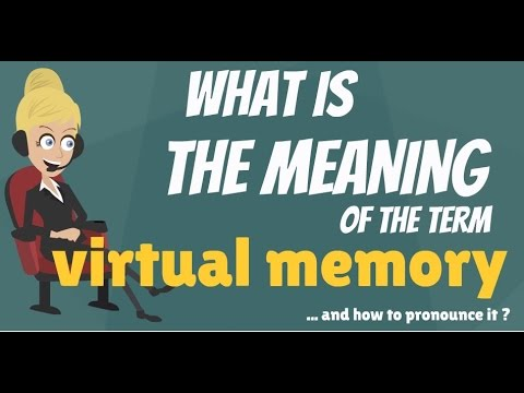 What is VIRTUAL MEMORY? What does VIRTUAL MEMORY mean? VIRTUAL MEMORY meaning & explanation
