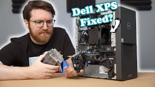 Upgrading the TERRIBLE cooler on the Dell XPS PC...