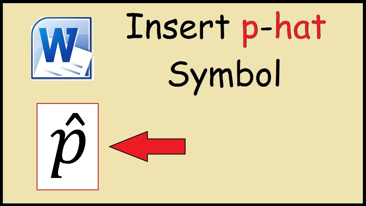 How to type p hat in word youtube how to type p hat in word biocorpaavc
