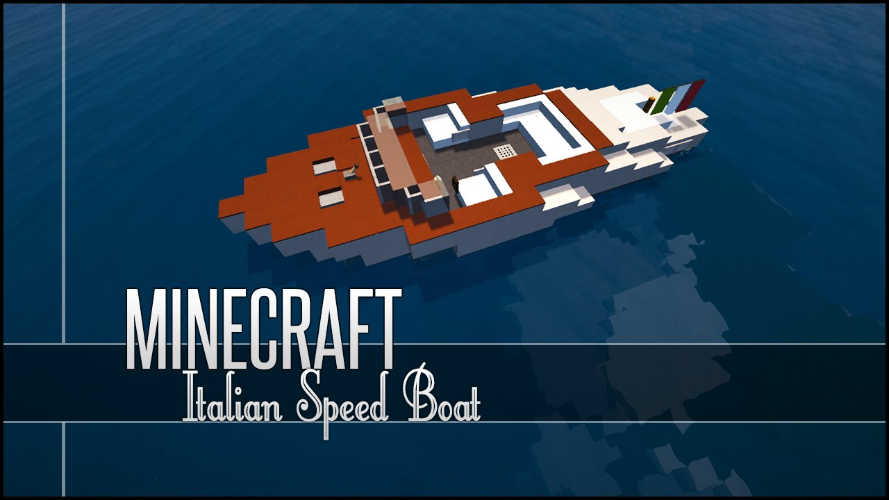 minecraft vehicle tutorial italian speed boat youtube. Black Bedroom Furniture Sets. Home Design Ideas
