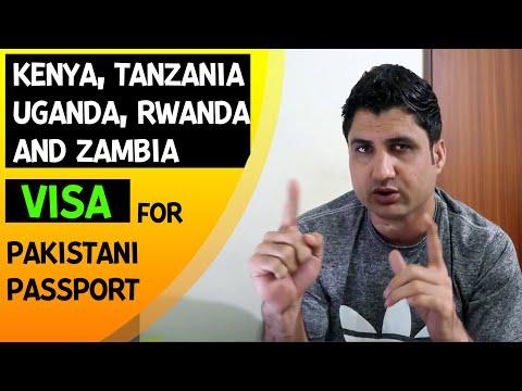 Kenya, Tanzania, Uganda, Rwanda & Zambia Visa for Pakistani Passport