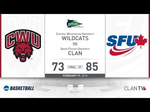 SFU Women's Basketball vs. CWU - February 17, 2018
