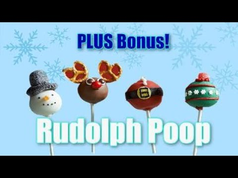 How to Make Amazing Frosty & Rudolph Cake Pops & Poop Pops For Christmas!