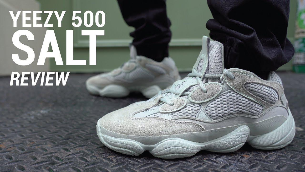 2cc67f39bb59 Adidas Yeezy 500 Salt Review   On Feet - YouTube
