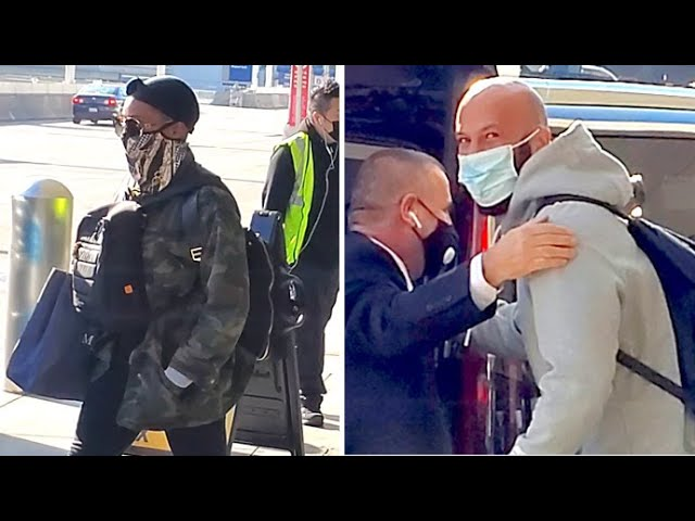 Common And Girlfriend Tiffany Haddish Touch Down At LAX Ahead Of Thanksgiving