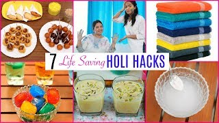 7 LIFE Saving HOLI Hacks for KITCHEN & HOME |  CookWithNisha