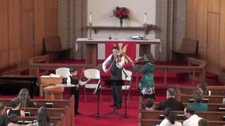 Father & Son play Bach Double Concerto in Dm