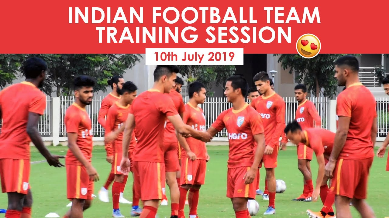 Indian Football Team Training Session | Hero Intercontinental Cup 2019 |  10th July 2019