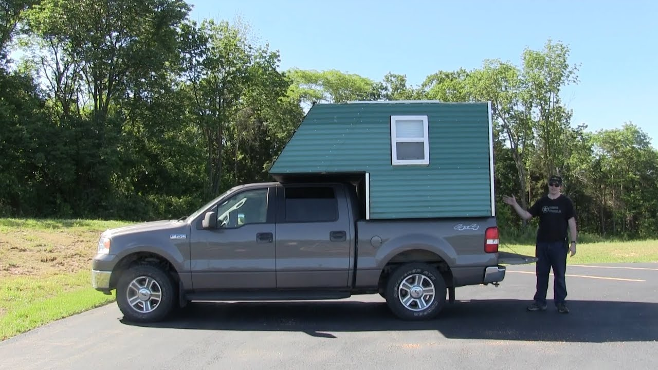 Homemade Truck Camper Project Part 2 Aging Extras Youtube
