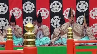 長慶子、雅楽、traditional japanese music、gagaku、美し国、三重、桑名、六華苑、2018春の舞楽会、多度雅楽会、時間4分52秒