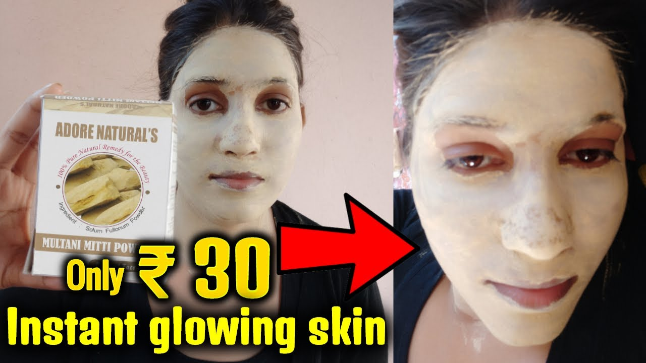 Multani Mitti Face Pack for Glowing Skin  How to Prepare & Demo By Puja   Beauty tips in Bengali