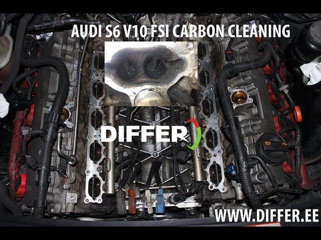 AUDI S6 V1O FSI CARBON CLEANING