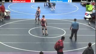 145 Matthew Iwicki vs. Roman Boylen
