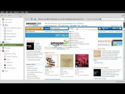 Banshee Media Player - Integrated Amazon MP3 Store