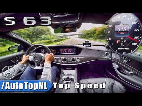 315km/h Mercedes-AMG S63 4Matic+ AUTOBAHN TOP SPEED by AutoTopNL
