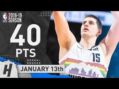 Nikola Jokic EPIC Full Highlights Nuggets vs Blazers 2019.01.13 - 40 Pts, 10 Reb, 8 Ast