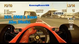 F1 2013 Classic Edition - Classic Race 1980's - Abu Dhabi 25% Race (Live Commentary) 1080p HD