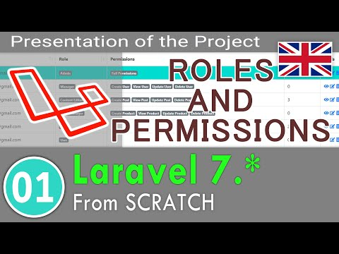 01 - Laravel 7.0 Course - Roles And Permissions Without Package