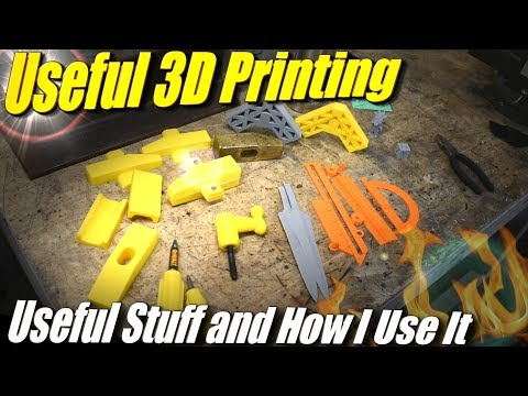 Useful 3D Prints, and How I Use 3D Printing in Metal Casting and in My Garage