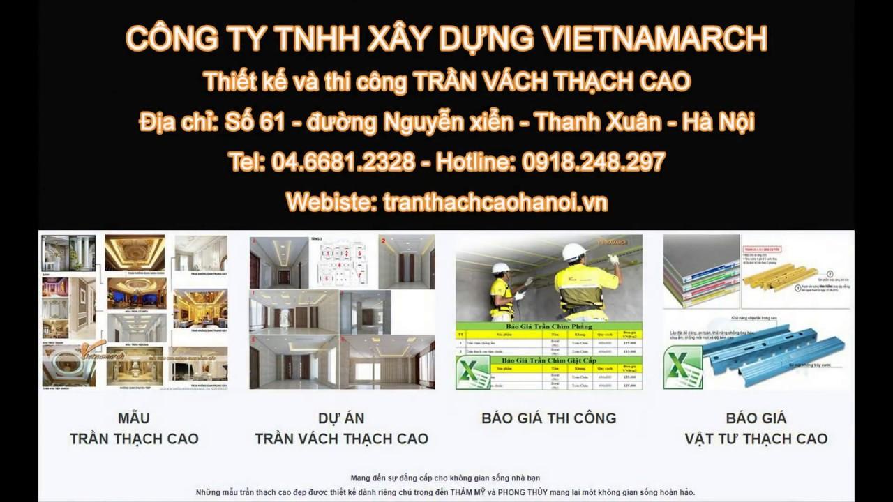 Đơn vị thi công trần vách thạch cao uy tín tại Hà Nội - LH: 0936.091.066 - YouTube