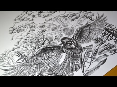 How I Design A Tattoo - Time Lapse Video