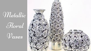 Diy Metallic Rose Vases| Simple and Inexpensive Home Decorating idea!