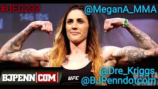 Megan Anderson heads into UFC 232 focused and motivated, talks WWE, the 145 division and much more