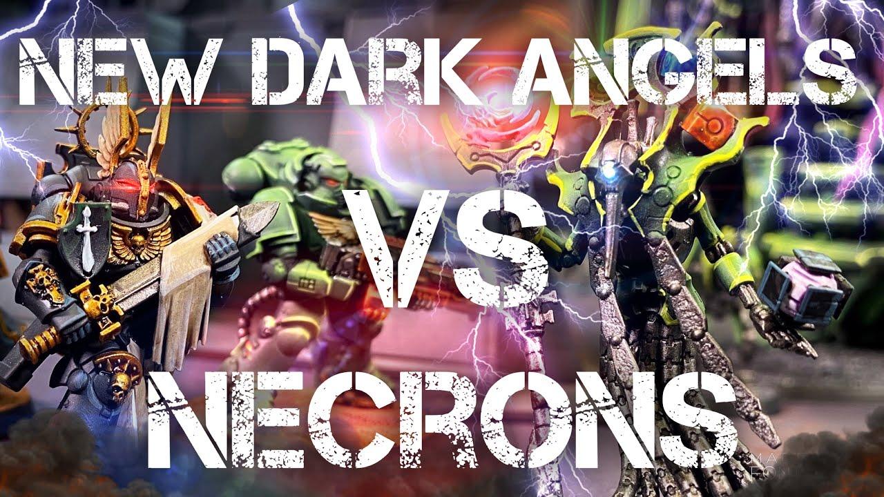 NEW! DARK ANGELS VS NECRONS 9th Edition Warhammer 40k battle report 2000 points