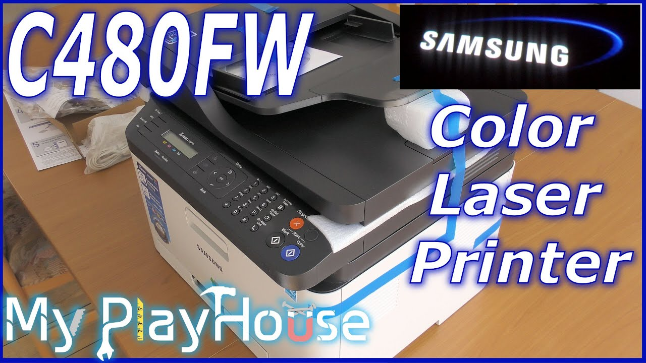 Xpress color printing - Samsung C480fw Color Laser Unboxing First Print 347